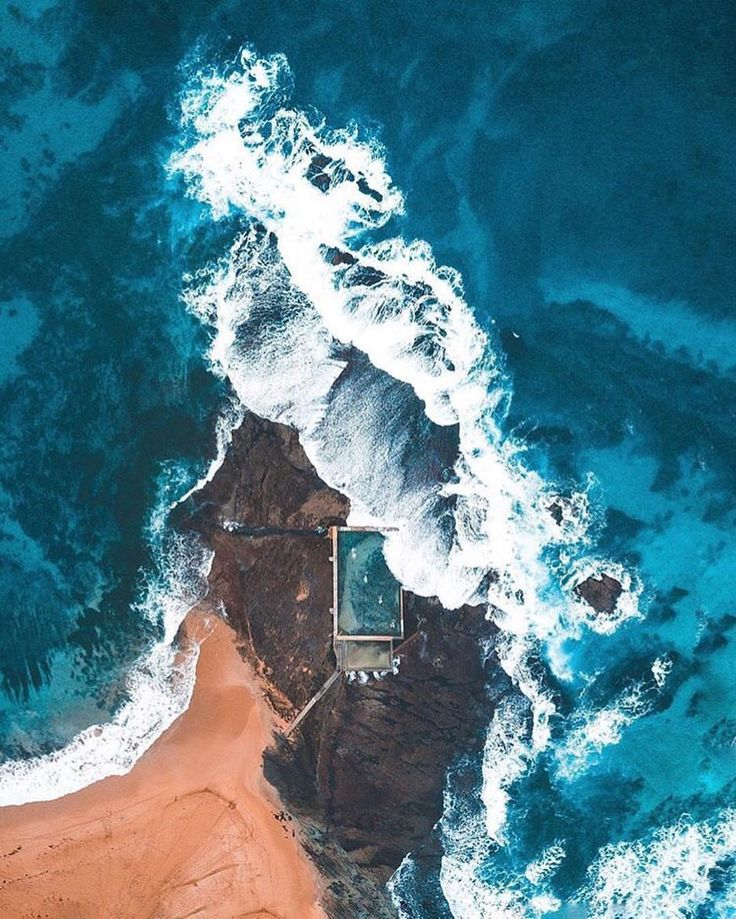 """Gefällt 16.6 Tsd. Mal, 60 Kommentare - OUR PLANET DAILY (@ourplanetdaily) auf Instagram: """"Droning high Above Mona Vale Beach Photo by © @thebirrell #OurPlanetDaily #Australia """""""