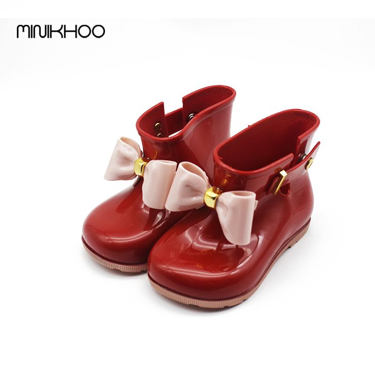 Mini Melissa Bow Rain Boots 2017 Melissa Jelly Boots Water Shoes Children Cute Bow Princess Child Boots High Quality EUR 24-29 #Affiliate
