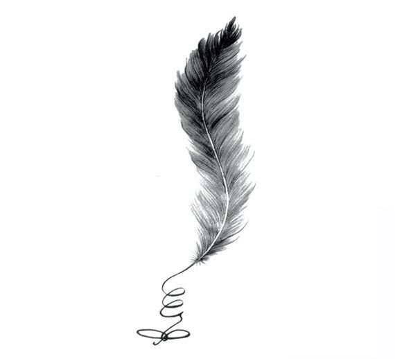 9 5cm Feather Tattoo For Ankle Shoulder Back Of Neck Rib Tattoo Neck Tattoos Women Feather Rib Tattoos Ankle Tattoo