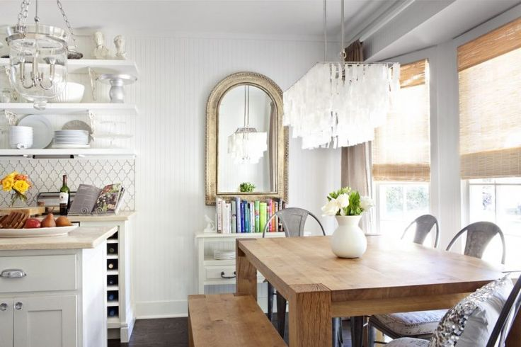 Rustic vintage glam dining spaces pinterest nooks for Glam dining table