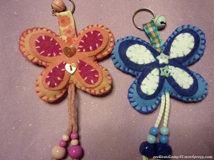 Farfalline portachiavi