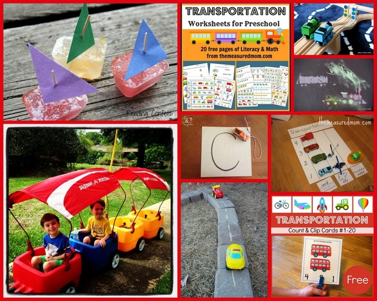 Transportation Play Ideas from The Kid's Co-Op #play #transportation #thingsthatgo