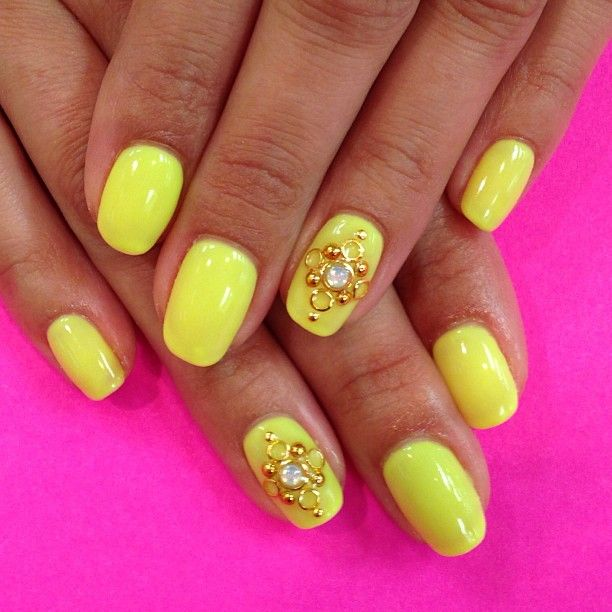 50 Best Images About Yellow Nails On Pinterest Neon