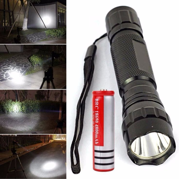 WF-501B 2500LM  XM-L T6 LED Flashlight Torch + 18650 Battery #Affiliate