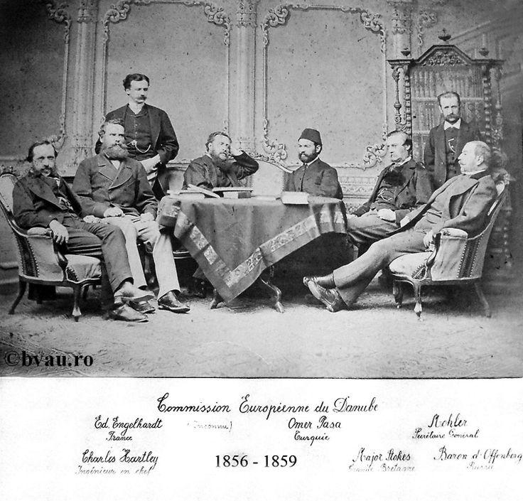 """Comisia Europeană a Dunării, 1856 - 1859, Galati, Romania. Imagine din colecţiile Bibliotecii Judeţene """"V.A. Urechia"""" Galaţi."""