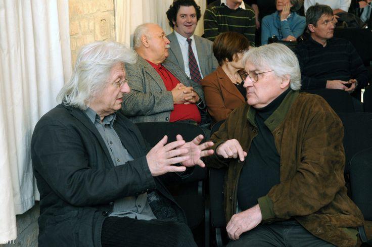 left: Péter Esterházy, Hungarian author right: Lajos Koltai, Hungarian movie director