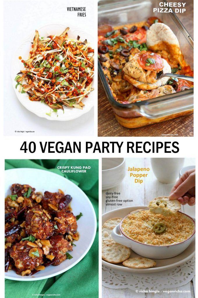 パーティーに感銘を与えるビーガンパーティー料理レシピ。 アペタイザー、ディップ、スーパーボウルパーティーなどのためのフィンガーフード。 グルテンフリー、大豆フリーのオプション#vegan #veganricha VeganRicha.com