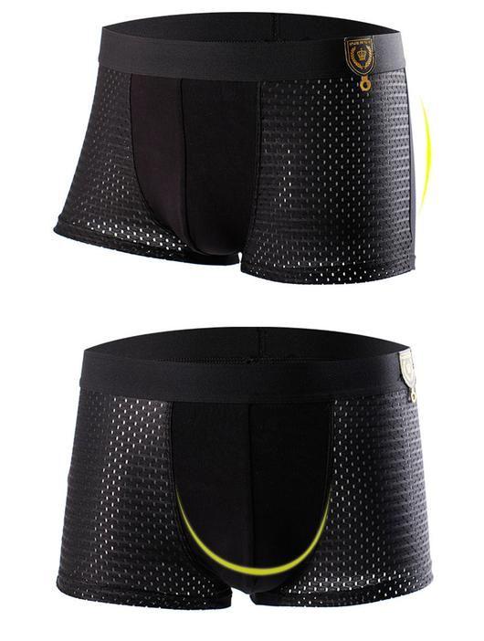 Mens 4Pc Ventilated Boxer Underwear