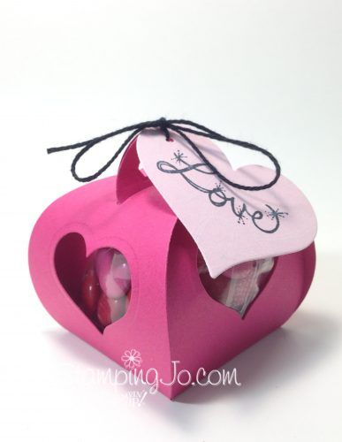 Curvy Keepsake Box Thinlits Dies, Stampin Up, Valentine Treat Box, Quick and Easy Gift