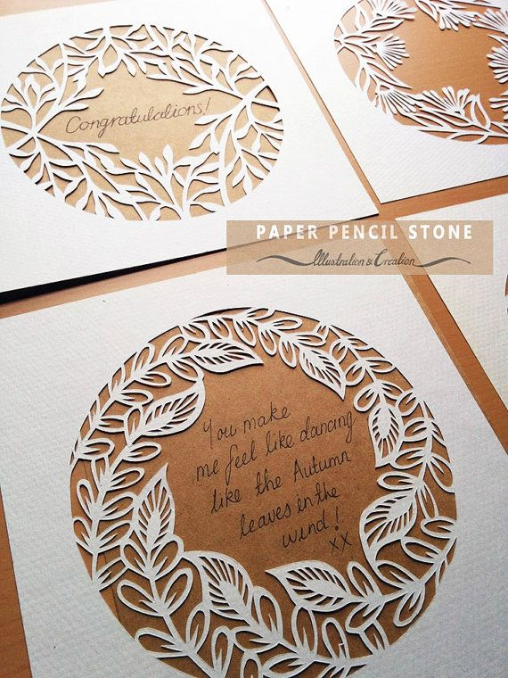 Botanical Frame 3 Papercut Template by PaperPencilStone on Etsy