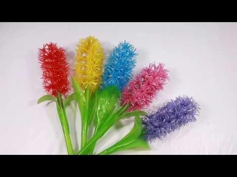 Membuat Bunga Dari Sedotan Plastik Yang Cantik Beautiful