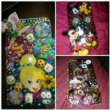 Tinker bell, mickey mouse phone case