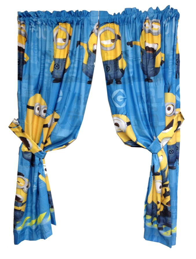 Minions Movie - Despicable Me Window Curtains. Perfect for a child's bedroom. So cute! For sale at http://shirtminion.com/minionscurtains