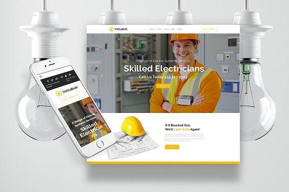 Electrician Services Wordpress Theme by Zemez on @creativemarket
