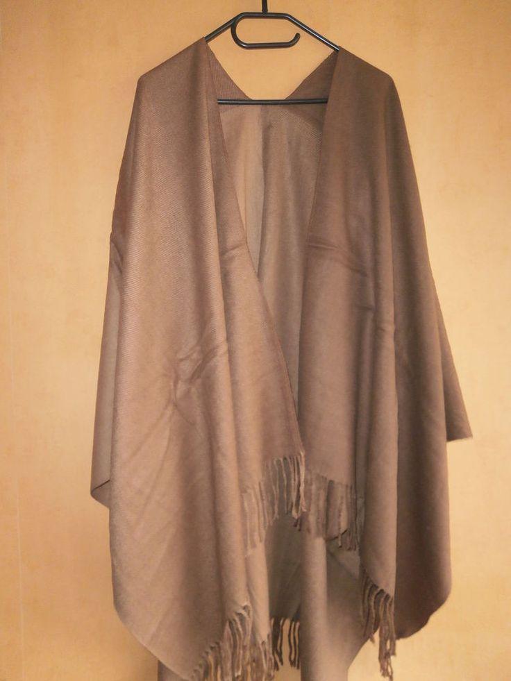 1 Ethno Poncho Cape Umhang Tuch Style Vintage Hippie Goa Kleidung Mexico Retro 3