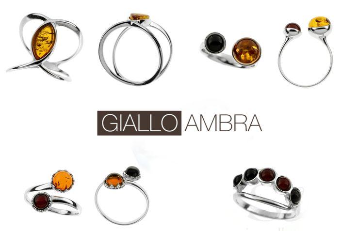 Scopri tutti gli anelli particolari da Giallo Ambra! Tutti in argento 925 rodiato con Ambra Baltica!