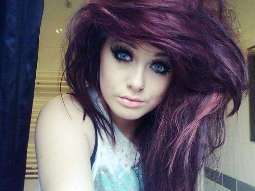Hair!Crazy Hair, Purple Hair, Hair Colors, Emo Girls, Crazy Photos, Blue Eye, Girls Hairstyles, Scene Hair, Colors Hair
