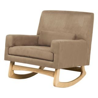 @Overstock   The Thick Foam Seat To This Microsuede Rocking Chair Lets You  Relax While