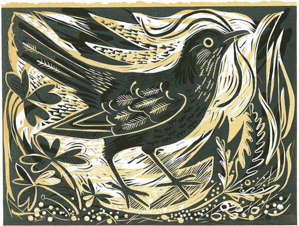 Relief print by Mark Hearld. Love the layers!