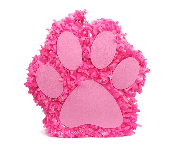 Paw Print Pinata Puppy Birthday Party Puppy Pinata by LaLasParty