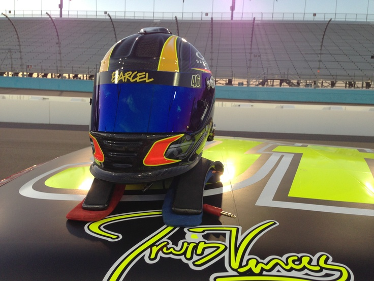 NASCAR driver Irwin Vences' helmet and his signature on the Takismobile!! NASCAR MEXICO TOYOTA SERIES 120