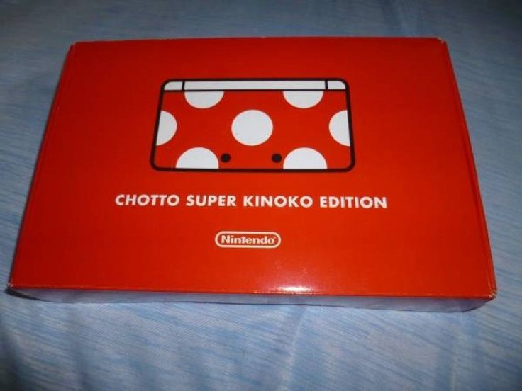Used Club Nintendo 3DS Console CHOTTO SUPER KINOKO EDITION 1000pcs LMTD F/S 13 #Nintendo