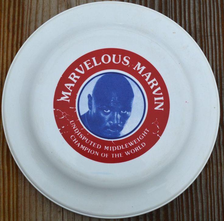 "VINTAGE MARVELOUS MARVIN HAGLER FRISBEE-9.25"" MADE IN USA No. 11-BOXING CHAMP"