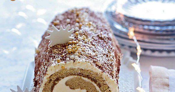 Cette recette de bûche de Noël est le mariage parfait entre la traditionnelle bûche et l'Italie. La forme de bûche la saveur du tiramisu.