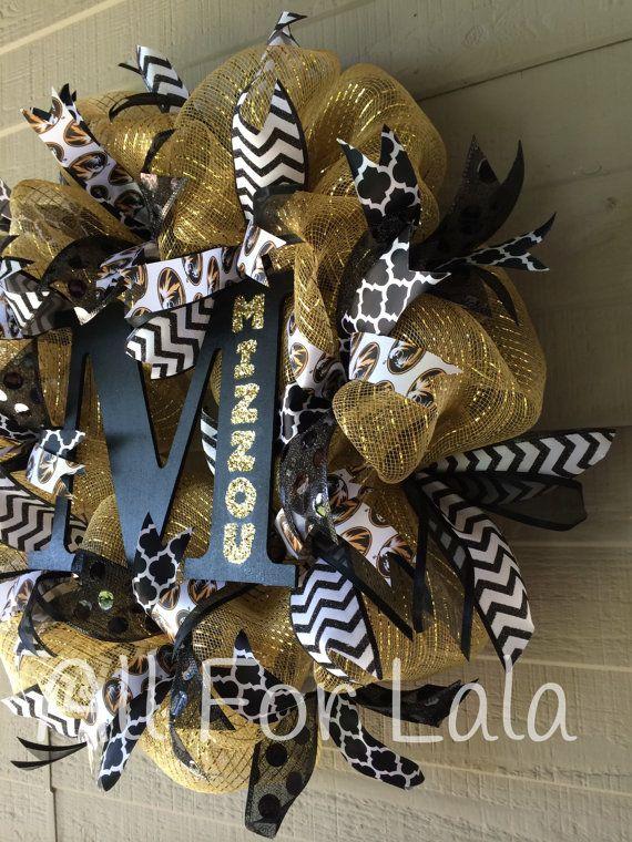 Mizzou Wreath University of Missouri Tigers Football by AllForLala