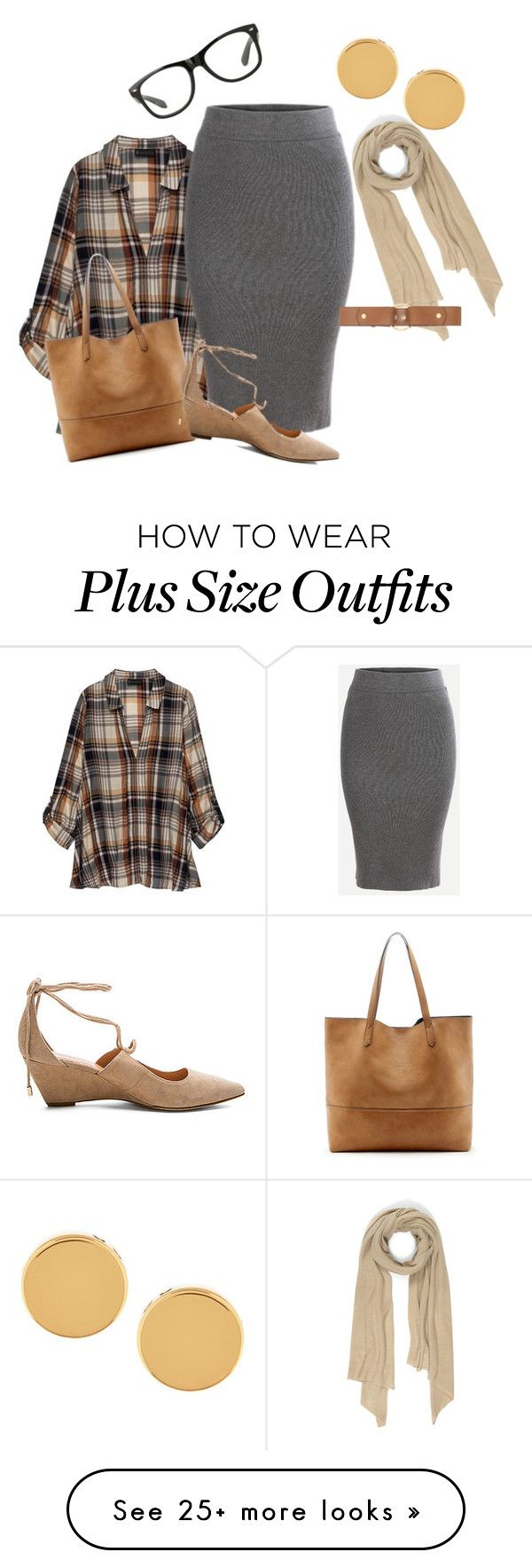 """Plus size plaid chic3/work"" by xtrak on Polyvore featuring Bobeau, Cash Ca, Marni, Sole Society, Sigerson Morrison and Trina Turk"