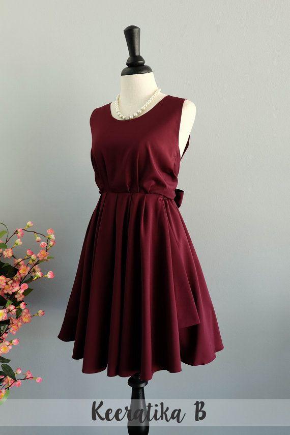 Kastanienbrauner rückenfreies Kleid Party von LovelyMelodyClothing