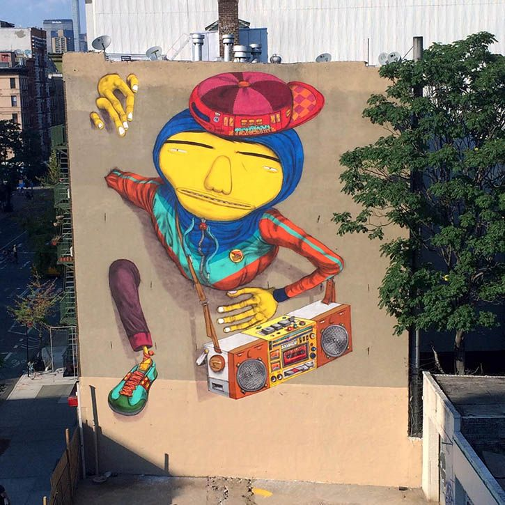 """B-BOY"" STREET ART BY OS GEMEOS IN NYC - the vandallist (4)"