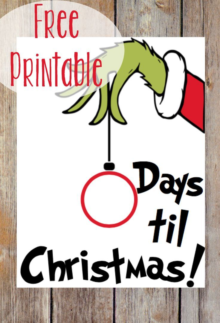 Use this FREE Grinch printable to help your family count