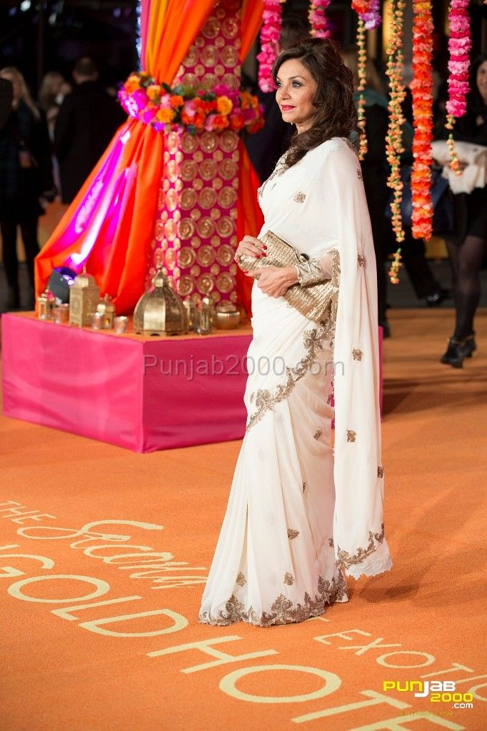 Actress & star Lillete Dubey of The Second Best Marigold Exotic Hotel.  ATTENDED THE CTBF ROYAL FILM PERFORMANCE AND WORLD PREMIERE OF THE SECOND BEST EXOTIC MARIGOLD HOTEL