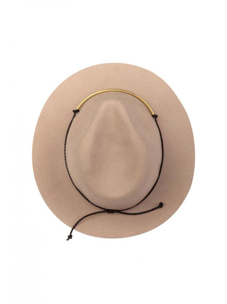 NAF NAF - Chapeau en feutre et noeud CAMEL - Chapeaux Femme