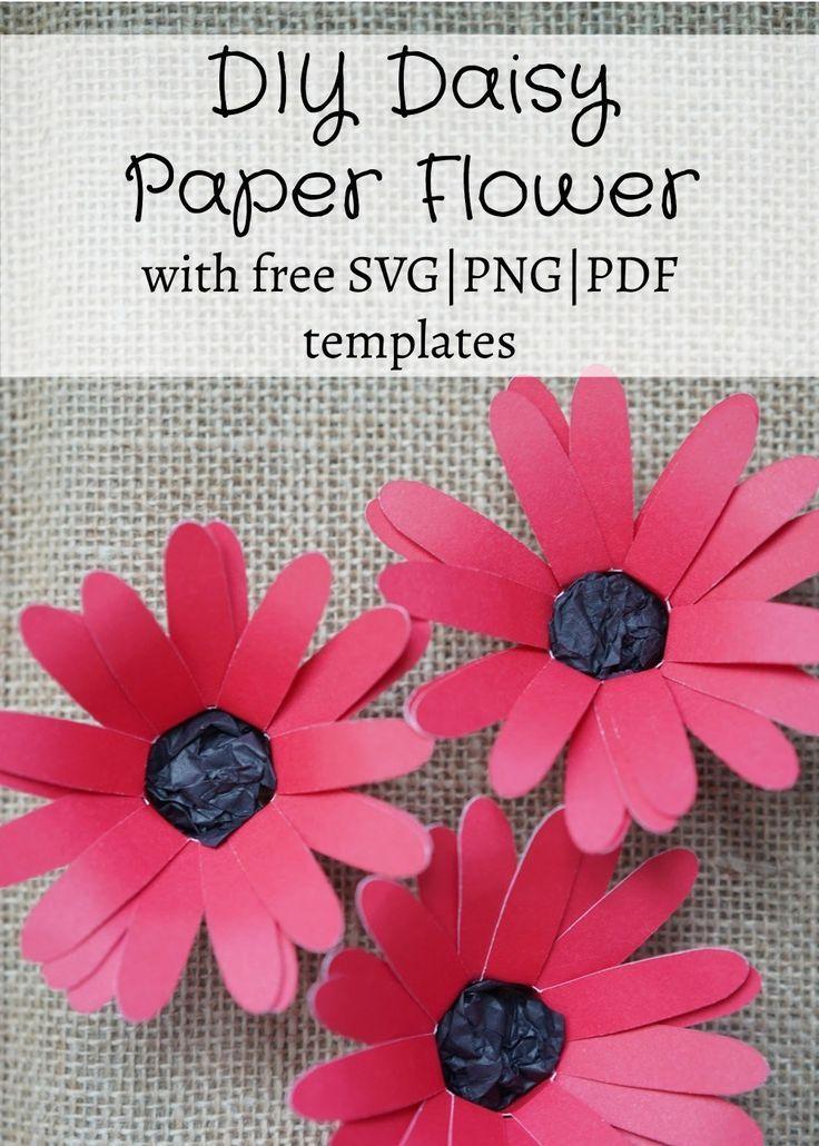 Diy Daisy Paper Flower Paper Flowers Free Paper Flower