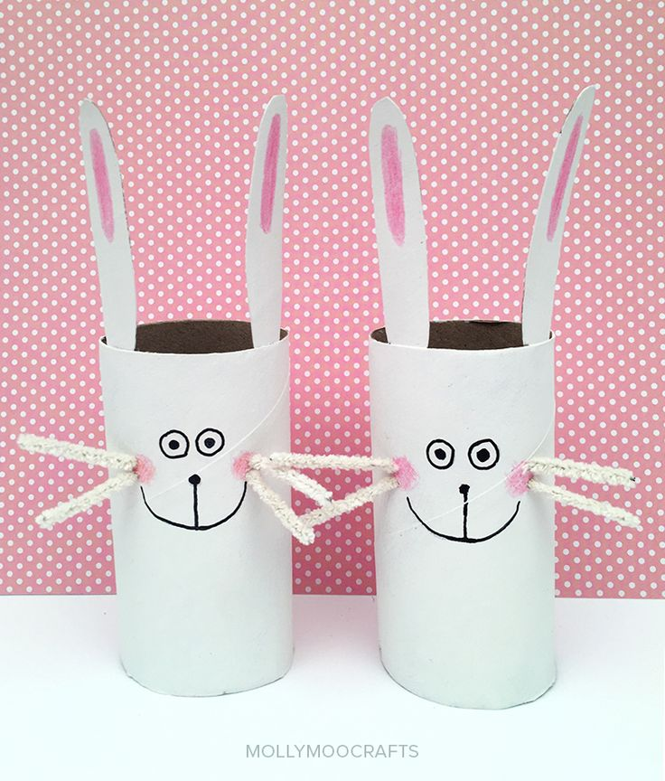Happy Toilet Roll Bunnies - cute craft for Easter