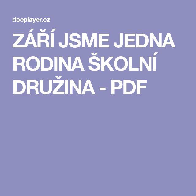 ZÁŘÍ JSME JEDNA RODINA ŠKOLNÍ DRUŽINA - PDF