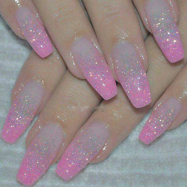 Best 25 Pink Sparkle Nails Ideas On Pinterest Sparkly