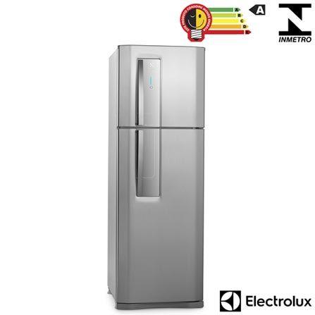 (Fast Shop.com.br) Refrigerador De 02 Portas Electrolux Frost Free Com 382 Litros Painel Blue Touch Inox E Cinza - Df42x - de R$ 3079.67…