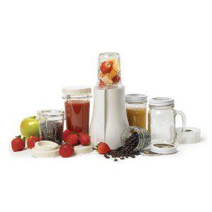 Tribest PB-350  BPA Free Mason Jar Personal Blender- a blender that uses mason jars! Brilliant!