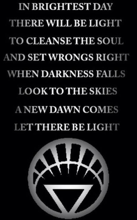 Light Lantern Oath   White lantern corps, Lantern corps ...