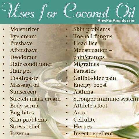 So many uses for cocunut oil