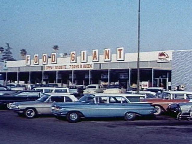 1960s supermarket car park