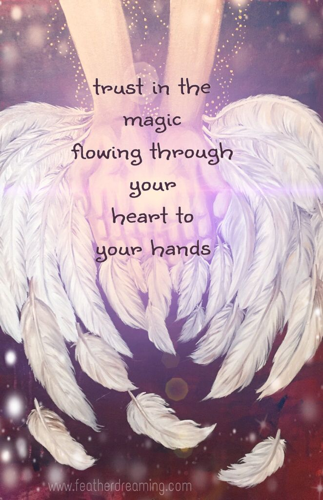 trust in the magic flowing through your heart to your hands ✨