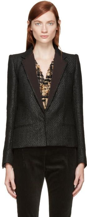 Haider Ackermann Black Tweed Blazer