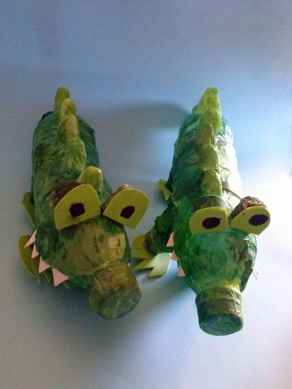 Plastic bottles Crocodiles #Bottle, #Craft