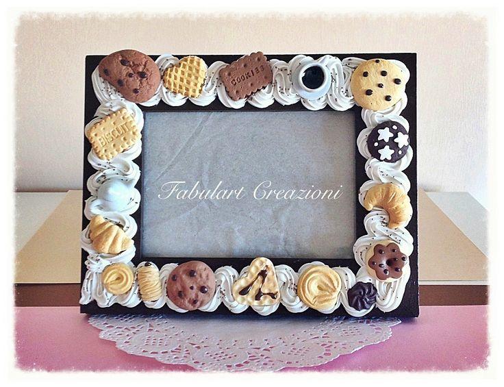 Portafoto con biscotti in fimo  http://fabulartcreazioni.blogspot.it/