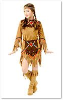 Mary (Molly) Brant Costume - Thanksgiving Indian Costumes - Thanksgiving Costume for Kids - Thanksgiving Girls Costume