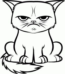 grumpy cat coloring page. because someone didn't tell me that they were doing a grumpy themed storytime & some little girl just grabbed the last coloring sheet. you know who you are.